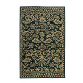 Home Decorators Collection Antiquity Teal 5 ft. 3 in. x 8 ft. 3 in. Area Rug