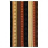 Kas Rugs Film Stripe Rust/Brown 5 ft. x 8 ft. Area Rug