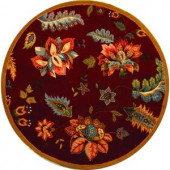 Safavieh Chelsea Red 5.5 ft. x 5.5 ft. Round Area Rug