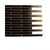 Splashback Tile Metal Copper Brick Stainless Steel Floor and Wall Tile - 6 in. x 6 in. Tile Sample
