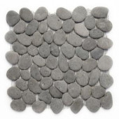 Solistone River Rock River Gray 12 in. x 12 in. x 12.7 mm Pebble Mesh-Mounted Mosaic Wall and Floor Tile (10 sq.ft./case)