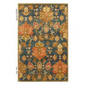 Kas Rugs Simple Perfection Blue/Yellow 9 ft. x 13 ft. Area Rug