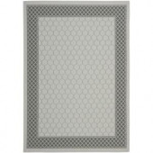Safavieh Courtyard Light Grey/Anthracite 4 ft. x 5.6 ft. Area Rug