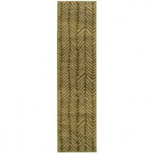 Oriental Weavers Camille Sable Green 1 ft. 10 in. x 7 ft. 6 in. Runner