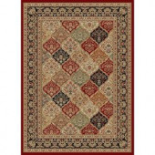 Tayse Rugs Sensation Red 7 ft. 10 in. x 10 ft. 3 in. Traditional Area Rug