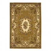 Kas Rugs Aubusson Beige/Ivory 2 ft. 3 in. x 3 ft. 3 in. Area Rug