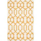 Safavieh Dhurries Ivory/Yellow 3 ft. x 5 ft. Area Rug