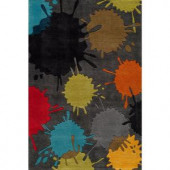 Momeni Young Buck Collection Grey 3 ft. x 5 ft. Area Rug