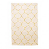 Kas Rugs Simple Scallop Ivory 2 ft. 6 in. x 4 ft. 2 in. Area Rug