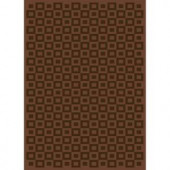 Home Dynamix Elegance Brown Polyviscose 3 ft. 9 in. x 5 ft. 2 in. Area Rug