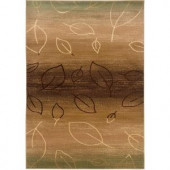 LR Resources Contemporary Light Brown and Light Moss 1 ft. 10 in. x 3 ft. 1 in. Plush Indoor Area Rug