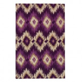 Home Decorators Collection Diamond Ikat Plum 5 ft. 3 in. x 8 ft. Area Rug