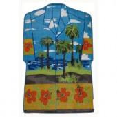 LA Rug Inc. Supreme Hawaiian Shirt Multi Colored 39 in. x 58 in. Area Rug