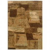 LR Resources Abstract Brushstroke Design with Rich Creams and Browns 7 ft. 9 in. x 9 ft. 9 Plush indoor only Area Rug