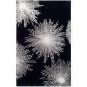 Safavieh Celebration Black/White Wool 2 ft. x 3 ft. Accent Rug