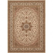 World Rug Gallery Manor House Cream Ardebil 7 ft. 10 in. x 10 ft. 2 in. Area Rug