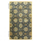 Kas Rugs Simple Perfection Blue/Yellow 3 ft. 3 in. x 5 ft. 3 in. Area Rug