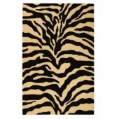 Home Decorators Collection Trek Gold and Black 2 ft. 6 in. x 4 ft. Area Rug