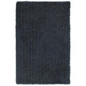 LR Resources Senses Shag Chocolate-Teal 7 ft. 9 in. x 9 ft. 9 in. Plush Indoor Area Rug