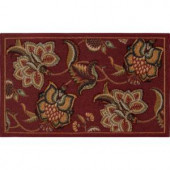 Home Dynamix Brentwood Red 19.6 in. x 31.5 in. Scatter Mat