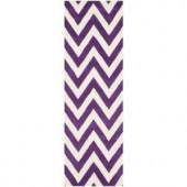 Safavieh Cambridge Purple/Ivory 2 ft. 6 in. x 8 ft. Runner