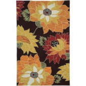 LR Resources Enchant Brown 5 ft. x 7 ft. 9 in. Plush Indoor Area Rug
