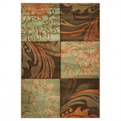 Kas Rugs Fauna Patchwork Blue/Brown 2 ft. 2 in. x 3 ft. 3 in. Area Rug