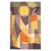 Kas Rugs Abstract Sun Pastels 2 ft. 6 in. x 4 ft. 6 in. Area Rug