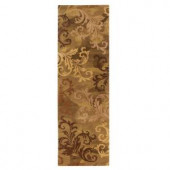 Home Decorators Collection Symphony Sage and Green 2 ft. 6 in. x 10 ft. Runner
