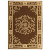 Safavieh Courtyard Chocolate/Natural 2.6 ft. x 5 ft. Area Rug