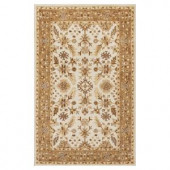 Kas Rugs Tapestry Craft Ivory/Coffee 3 ft. 3 in. x 5 ft. 3 in. Area Rug