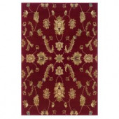 LR Resources Timeless Traditional Design in Red 5 ft. 3 in. x 7 ft. 9 in. Indoor Area Rug