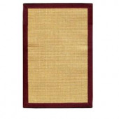 Home Decorators Collection Freeport Sisal Honey and Burgundy 8 ft. x 10 ft. 6 in. Area Rug