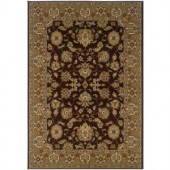 LR Resources Traditional Brown and Gold Runner 1 ft. 10 in. x 7 ft. 1 in. Plush Indoor Area Rug