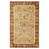 Kas Rugs Fashion Mahal Grey/Mocha 3 ft. 3 in. x 5 ft. 3 in. Area Rug