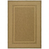 Martha Stewart Living Color Frame Coffee/Sand 5 ft. 3 in. x 7 ft. 7 in. Indoor / Outdoor Area Rug