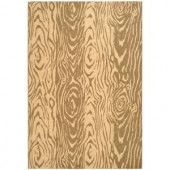 Martha Stewart Living Layered Faux Bois Coffee/Sand 5 ft. 3 in. x 7 ft. 7 in. Indoor/Outdoor Area Rug