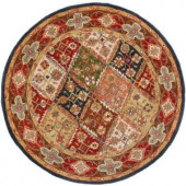 Safavieh Heritage Green/Red 6 ft. x 6 ft. Round Area Rug