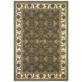 Kas Rugs Traditional Kashan Green/Ivory 3 ft. 3 in. x 4 ft. 11 in. Area Rug