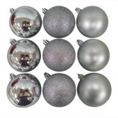 70 mm Silver Ornament (18-Pack)