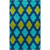 Rizzy Home Fusion Collection Multi Color 5 ft. x 8 ft. Print Area Rug