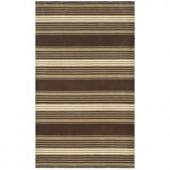 Martha Stewart Living Harmony Stripe Tobacco Leaf 4 ft. x 6 ft. Area Rug