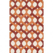 Loloi Rugs Weston Lifestyle Collection Red Orange 3 ft. 6 in. x 5 ft. 6 in. Area Rug