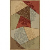 Momeni Terrace Garden Brown 5 ft. x 8 ft. All-Weather Patio Area Rug