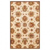 Kas Rugs In Style Kashan Ivory 3 ft. 3 in. x 5 ft. 3 in. Area Rug