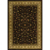 Natco Sapphire Sarouk Chocolate 5 ft. 3 in. x 7 ft. 7 in. Area Rug