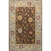 BASHIAN Wilshire Collection Floral Leaf Chocolate 7 ft. 9 in. x 9 ft. 9 in. Area Rug