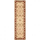 Safavieh Heritage Ivory/Red 2.3 ft. x 8 ft. Runner