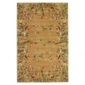Kas Rugs Spring Tulips Gold 5 ft. 3 in. x 8 ft. 3 in. Area Rug