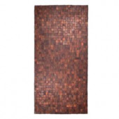 Entryways Mather Natural 36 in. x 71 in. Exotic Wood Area Rug